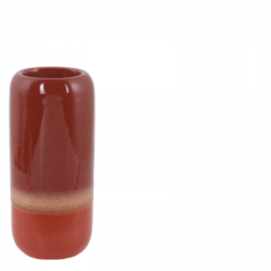 LEYTON CANDLE HOLDER RED L