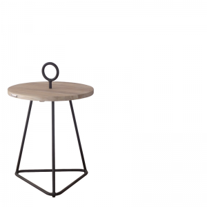 PALM BEACH COFFEETABLE ROUND Ø49XH71 GREY