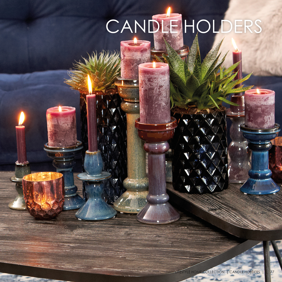 Candle holders lifestyle home collection - Lifestyle home collection ...