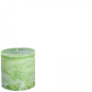 BERT CANDLE Ø10X10 GRASSHOPPERGREEN