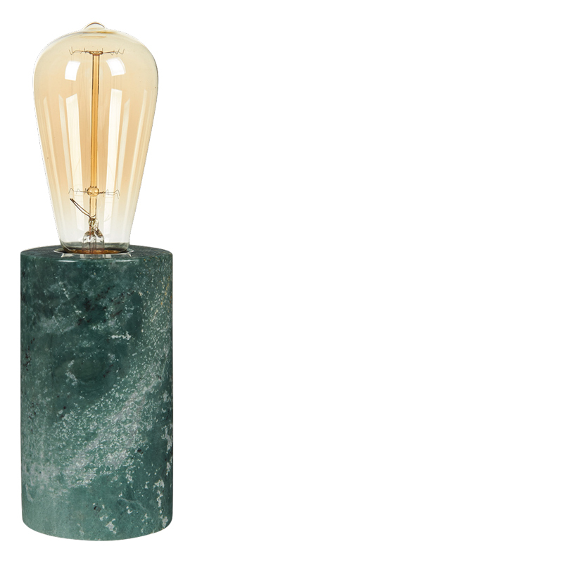 MARBLE TABLE LAMP GREEN L