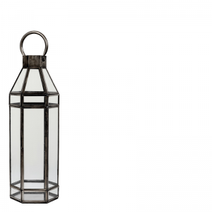 ANTIQUE GREY LANTERN S