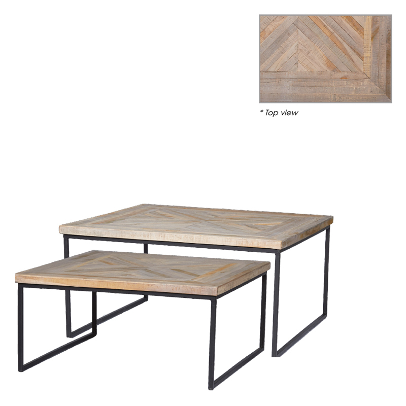 MICHAEL SQUARE COFFEE TABLE SET/2 (127355,127354)