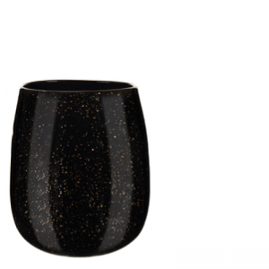 MALJA VASE BLACK GOLD M