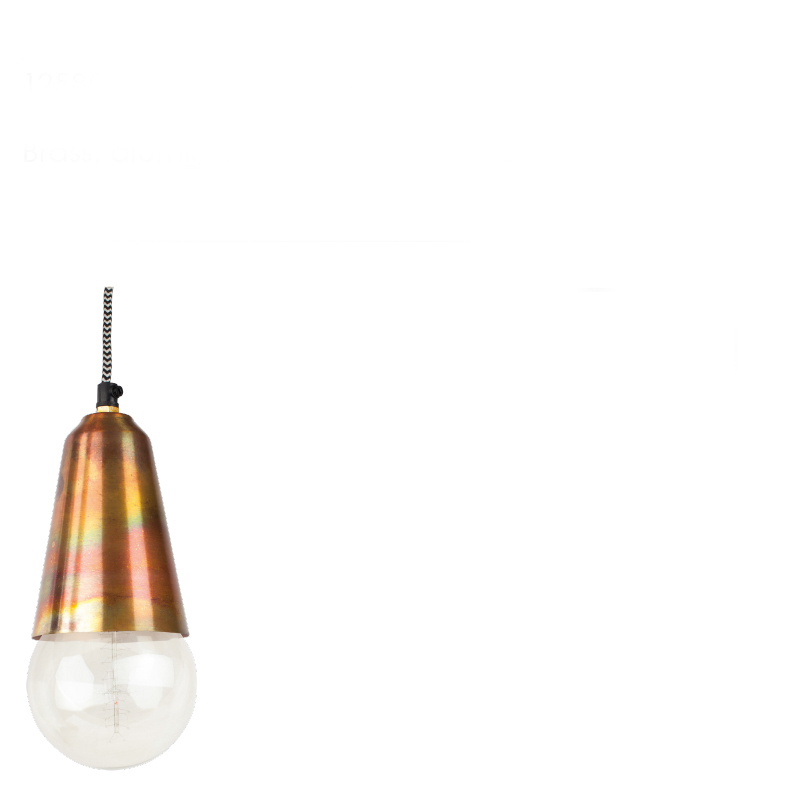 SHIMA HANGING LAMP BURNED COPPER