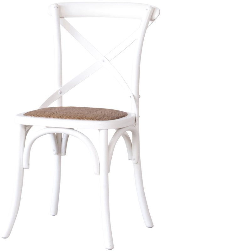 CROSS CHAIR OLD WHITE