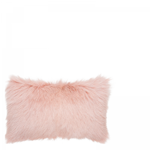 GOAT FUR PILLOW OLD PINK 50X30
