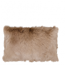 GOAT FUR PILLOW BEIGE 50X30