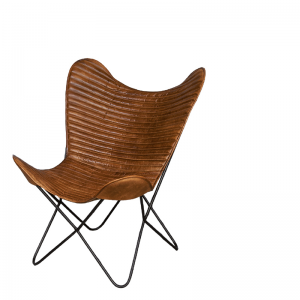 EMPIRE LOUNGE CHAIR COGNAC 75X87X86