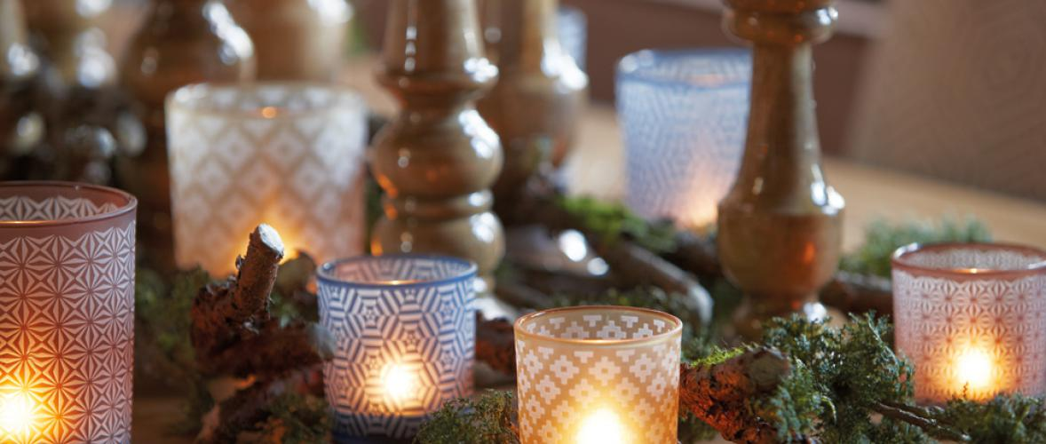 ETHNIC VOTIVE BROWN S