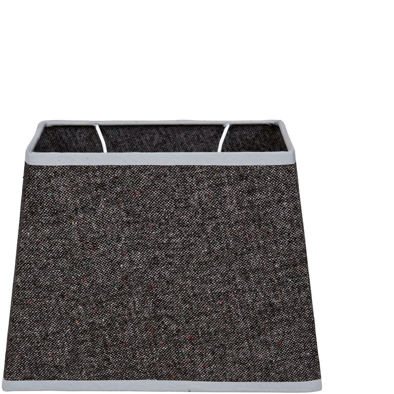 OXFORD COTTON SHADE RECTANGLE DARK GREY 27X18X20