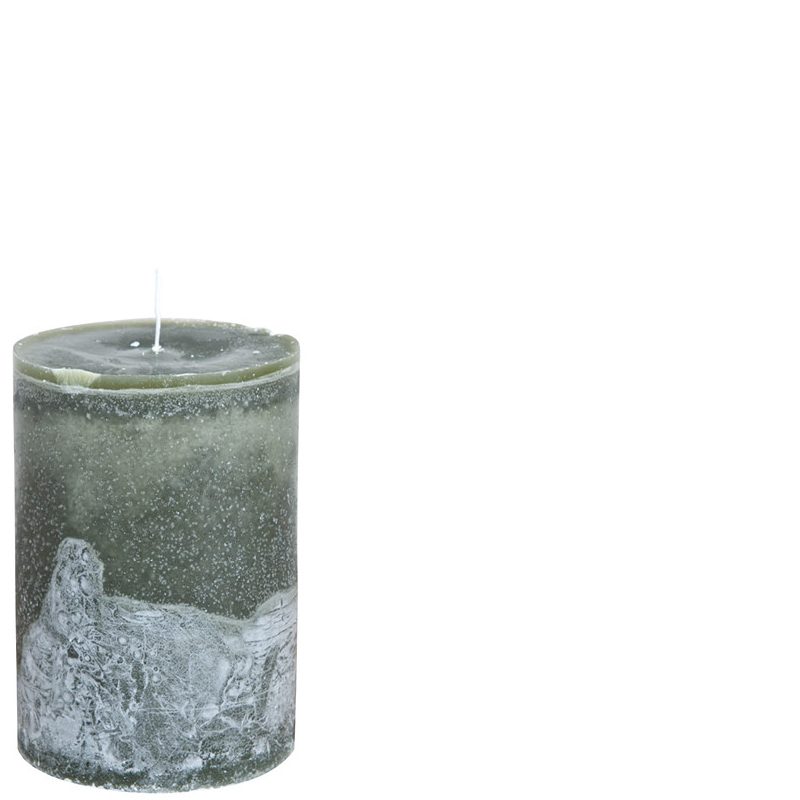 LUDO CANDLE Ø10X15 MOSSGREEN