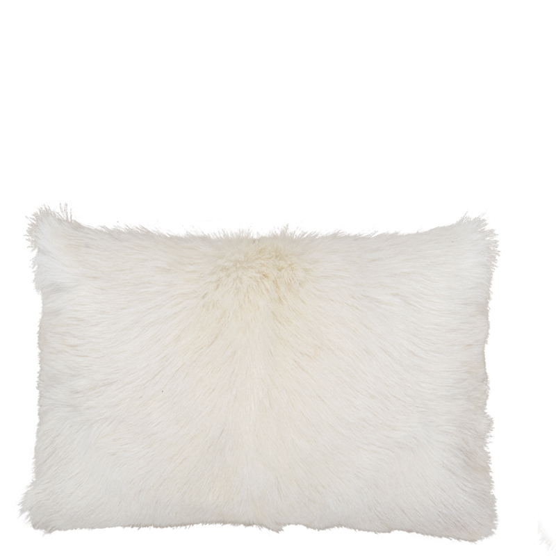 GOAT FUR PILLOW NATURAL 50X30