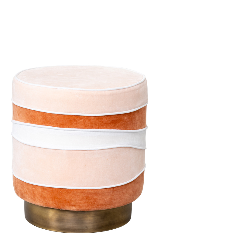 GINA STOOL PALE PEACH
