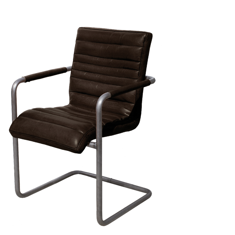 CHICAGO SWING ARMCHAIR GUN METAL