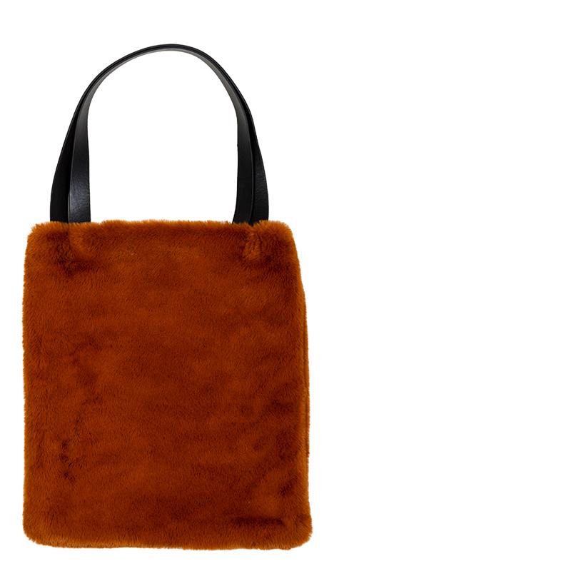 lyall fur bag leather brown lifestyle home collection. Black Bedroom Furniture Sets. Home Design Ideas