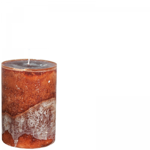 LUDO CANDLE Ø10X15 COCOABROWN