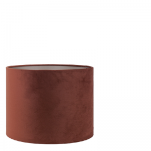 BRIGHTON VELVET LAMPSHADE ROUND BROWN 32X32X25