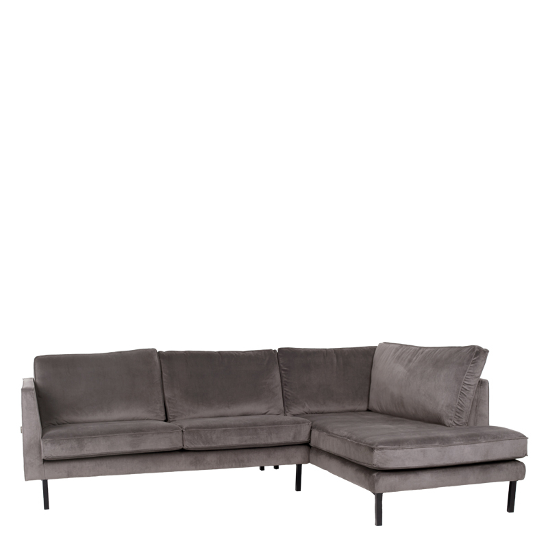PERUGIA LOUNGE SOFA RIGHT SEVEN GREY 65 B-265/H-86/D-190