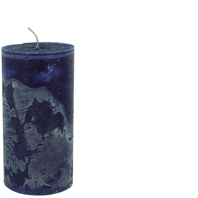 MICHEL CANDLE Ø10X20 DARK BLUE