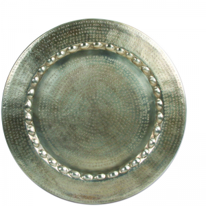 MARRAKECH PLATE ROUND SILVER ASS.