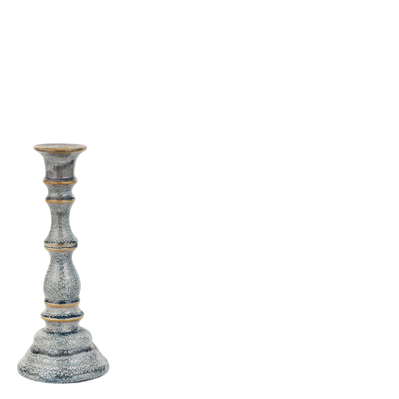 BUBBLE CANDLE HOLDER GREY S