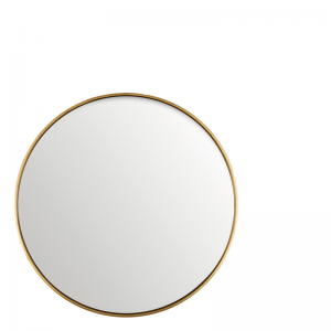 ANTIQUE GOLD MIRROR ROUND 80CM
