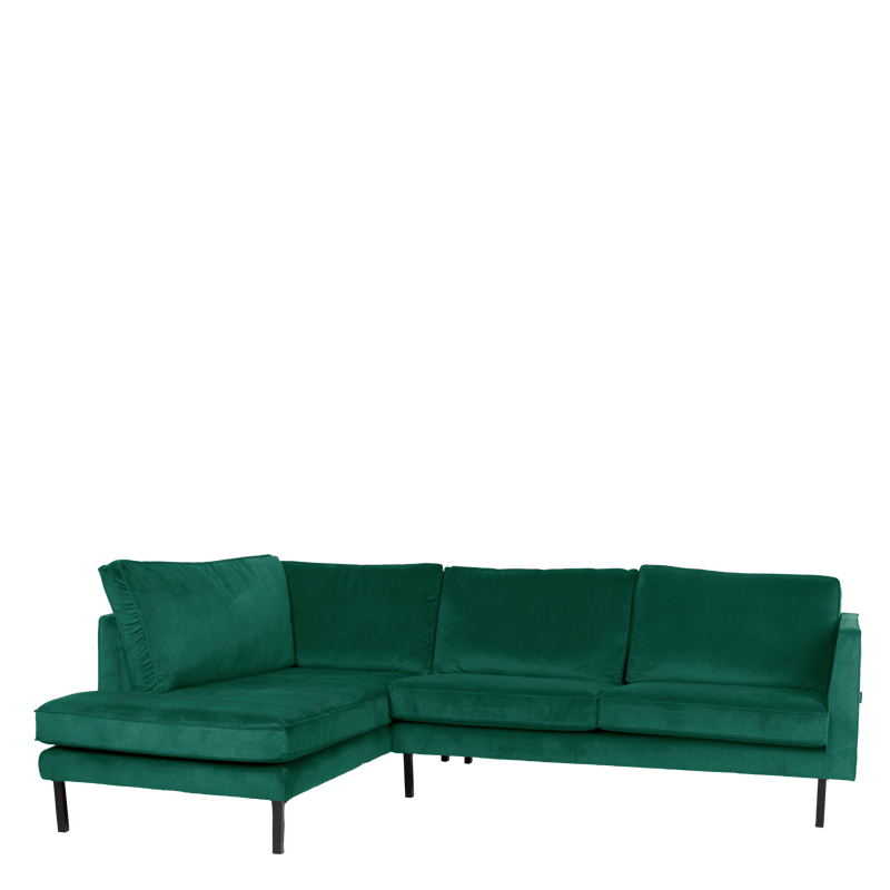 PERUGIA LOUNGE SOFA LEFT SEVEN FOREST GREEN