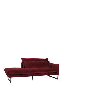 MILAN DAYBED RIGHT SEVEN WINE RED