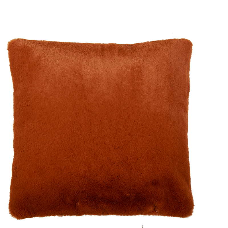 LYALL FUR PILLOW LEATHER BROWN