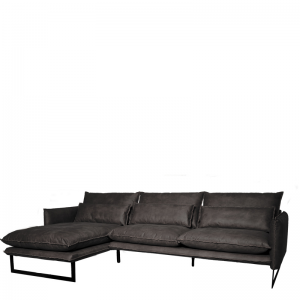 MILAN LOUNGE SOFA LEFT MERSEY GREY