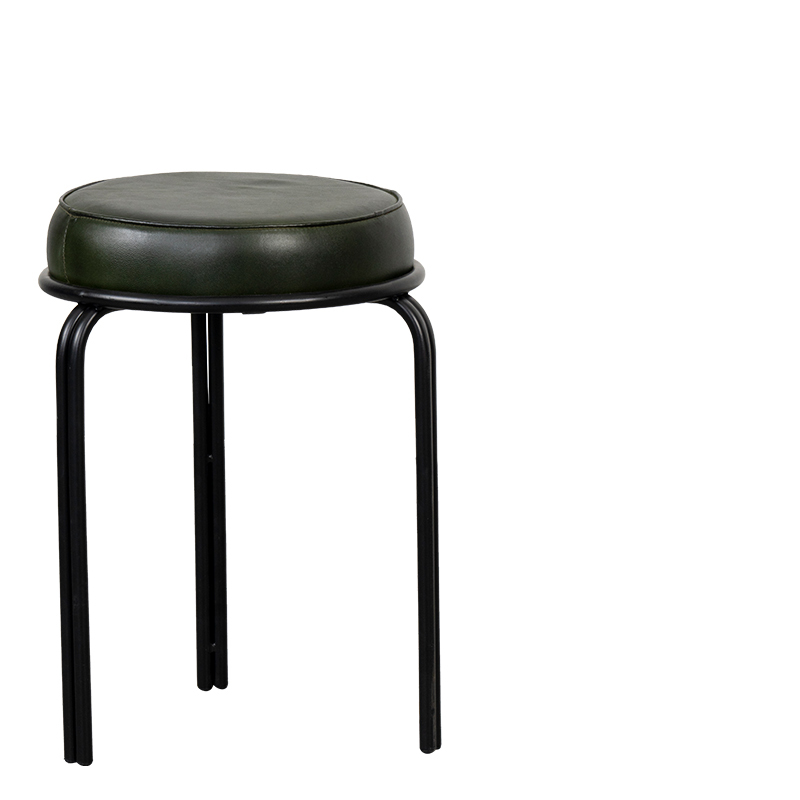 DURHAM STOOL GREEN W-36/D-36/H-50