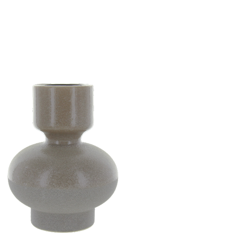 DUME CANDLE HOLDER TAUPE