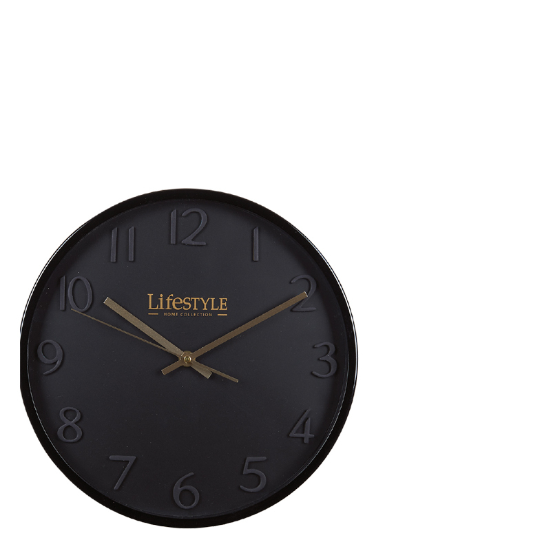 PARIS CLOCK BLACK