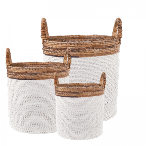 IYABO BASKET WHITE SET/3 (128266/128267/128268)