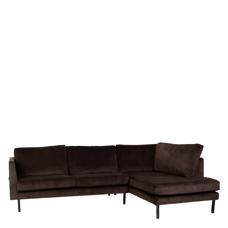 PERUGIA LOUNGE SOFA RIGHT SEVEN DARK BROWN
