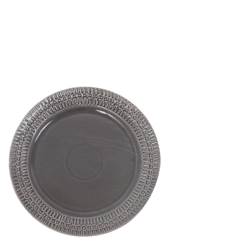 ETHNIC CERAMIC PLATE ANTHRACITE