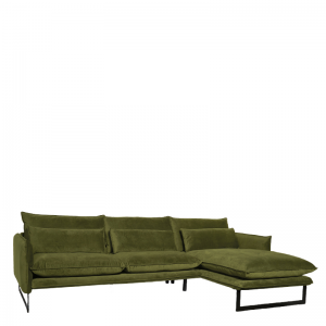 MILAN LOUNGE SOFA RIGHT SEVEN TURTLE GREEN