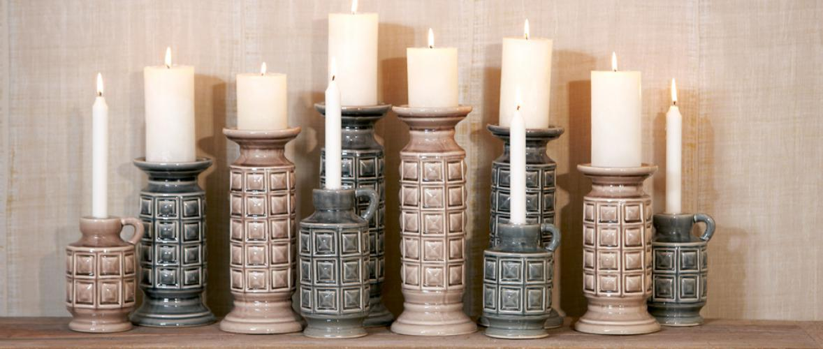ROA CANDLE HOLDER GREY S