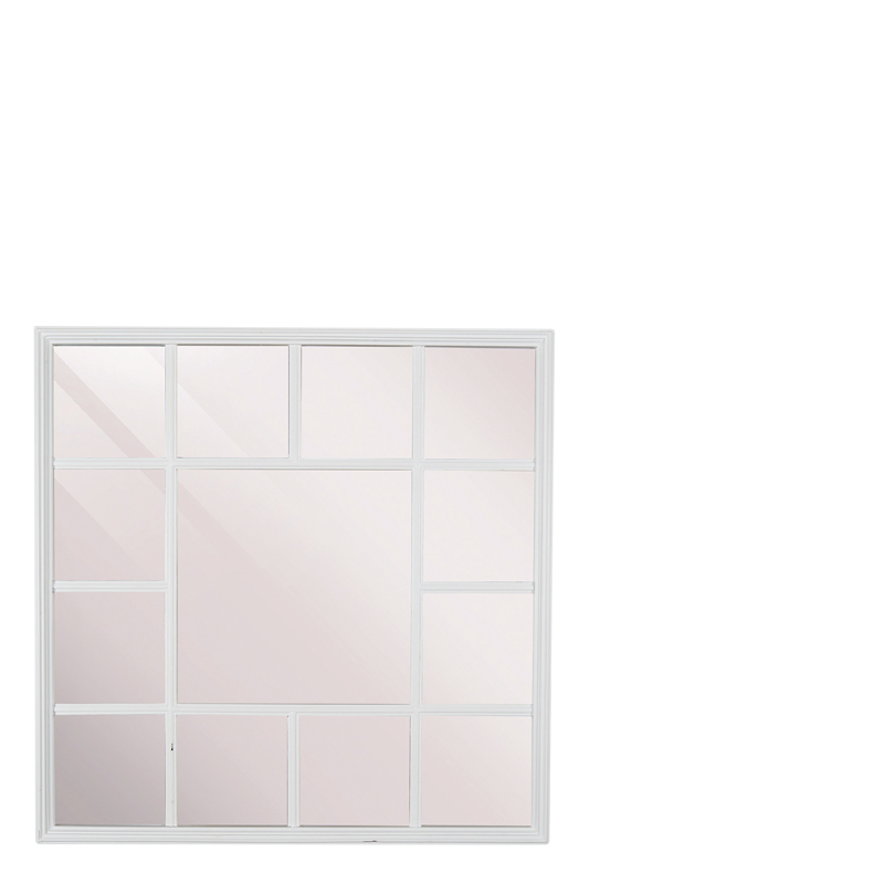 FERNAO MIRROR SQUARE WHITE