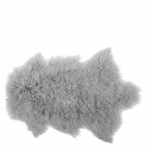 TIBETAN LAMBSKIN LIGHT GREY 90x50