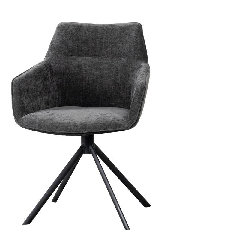JOHNSON ROTATING DINING CHAIR CROWN ANTHRACITE W-59/D-60/H-84