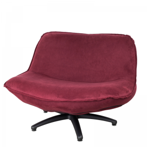 FORLI FAUTEUIL WINE RED BLACK LEG