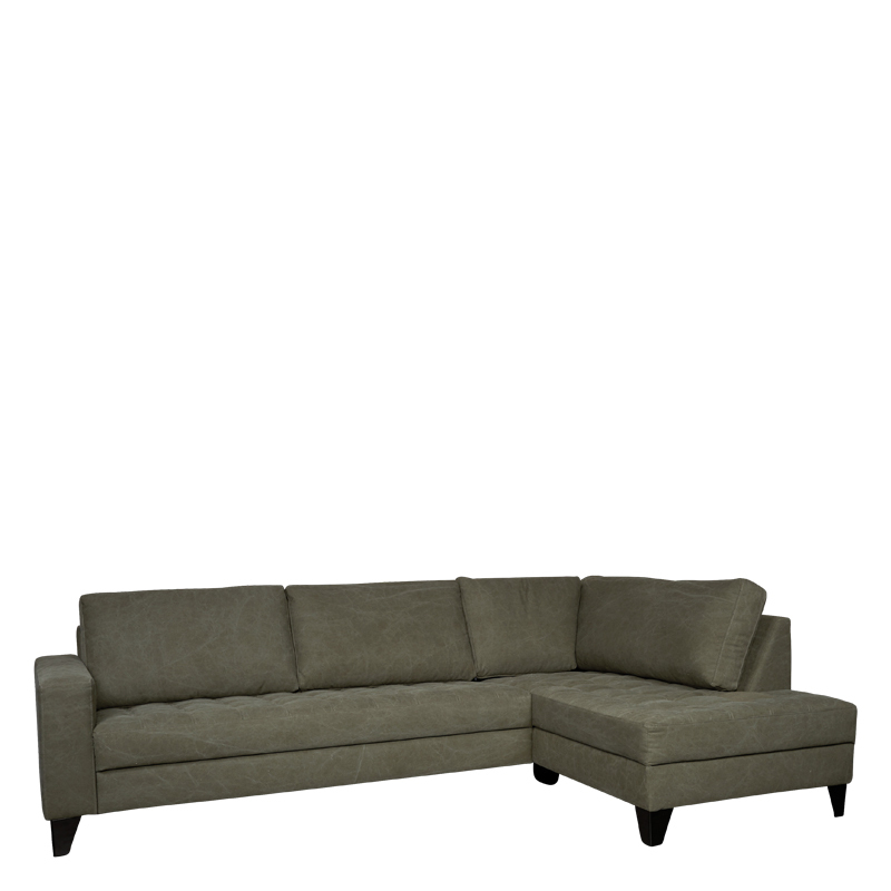 ROME LOUNGE SOFA RIGHT GREEN