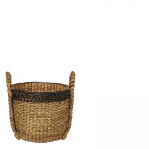 PALM BASKET NATURAL ROUND S