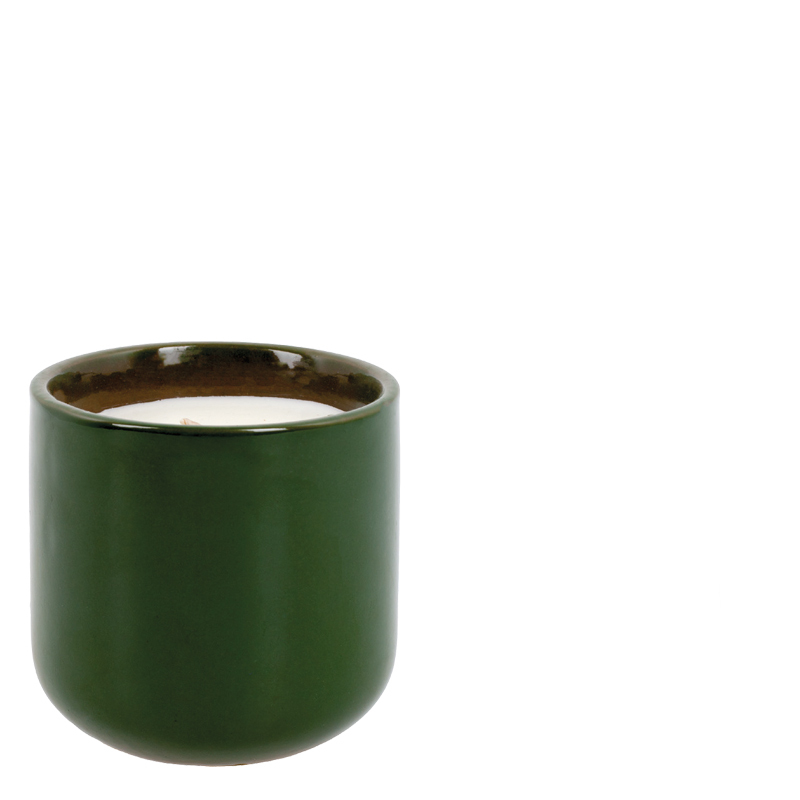 EARTHBEAUTY FRAGRANCE CANDLE GREEN - JASMIN & PEPPERMING