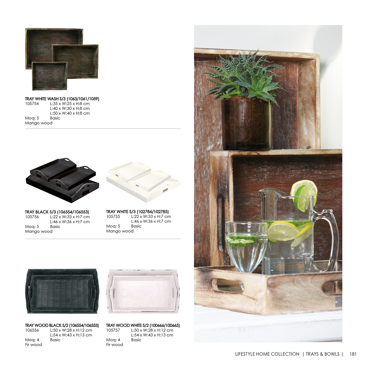Trays bowls lifestyle home collection - Lifestyle home collection ...
