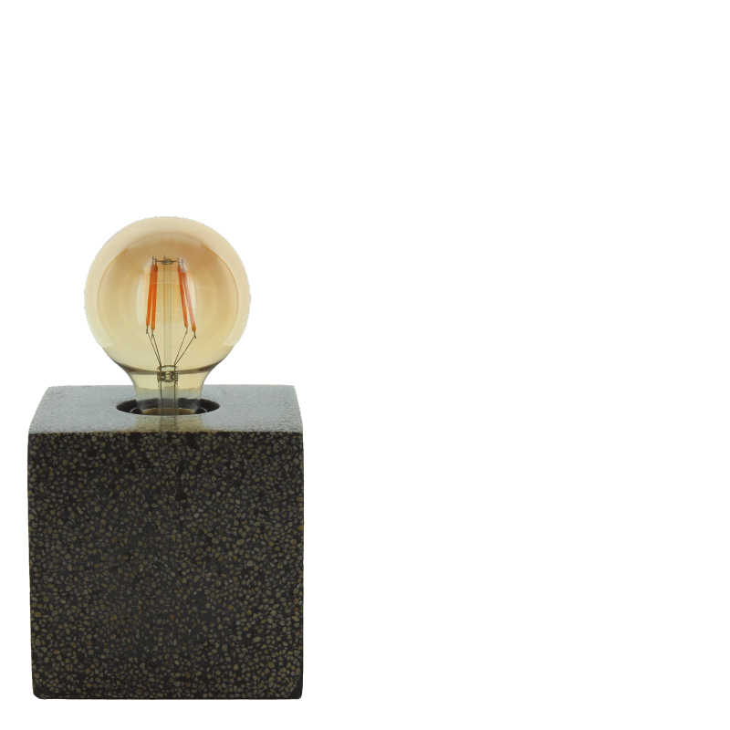 SHANI TABLE LAMP BLACK SQUARE L