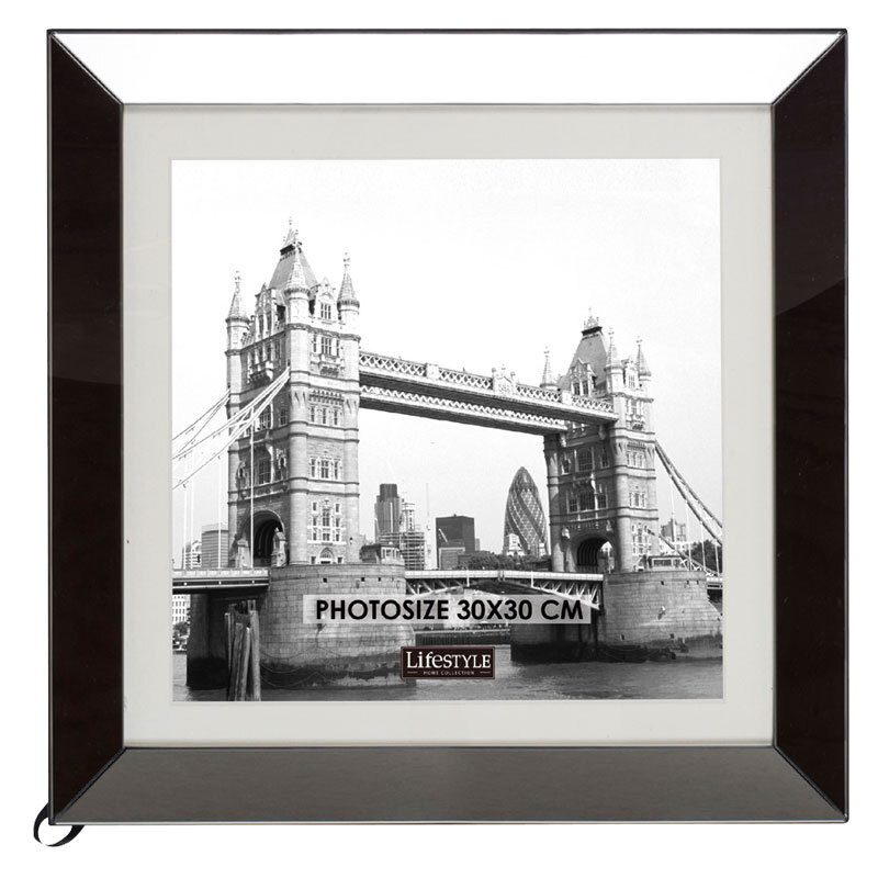 MIRROR PHOTO FRAME SMOKE XL 30X30 CM