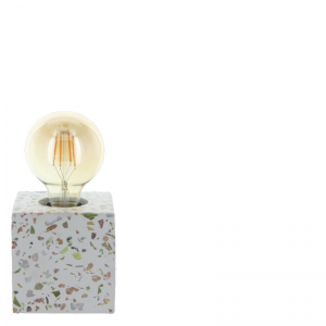 SHANI TABLE LAMP WHITE SQUARE S